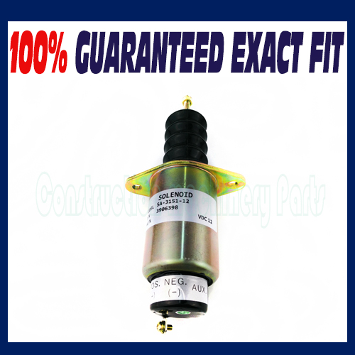 ФОТО NEW 12 VOLT FIT CUMMINS 6C 8.3L 4BT 3.3L 3.9L SHUT DOWN SOLENOID 3906398