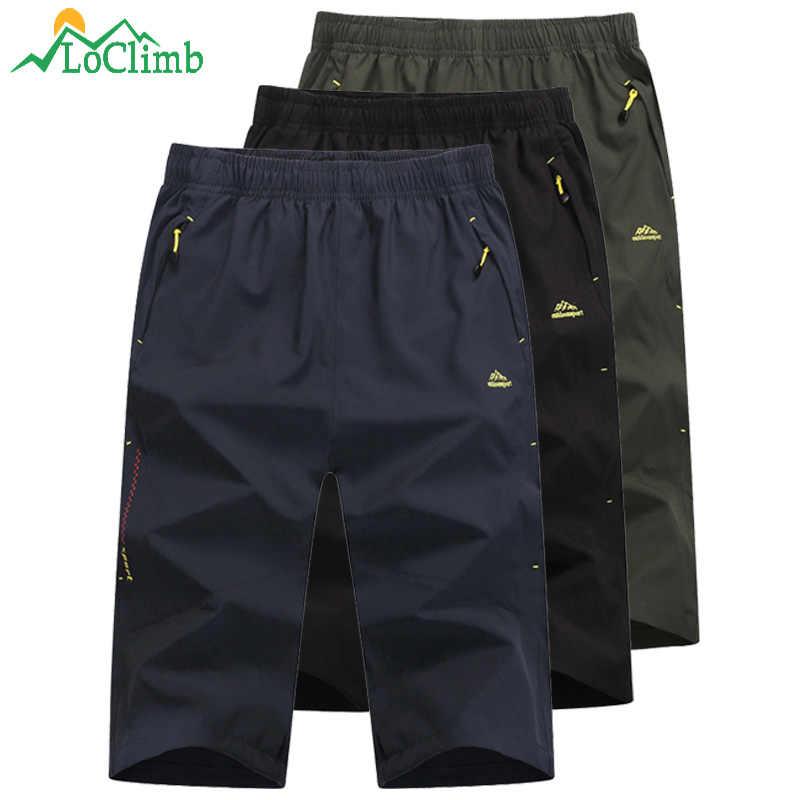 LoClimb мужские уличные шорты мужские быстросохнущие/Водонепроницаемые альпинистские/треккинговые/рыболовные/походные шорты мужские спортивные шорты AM215