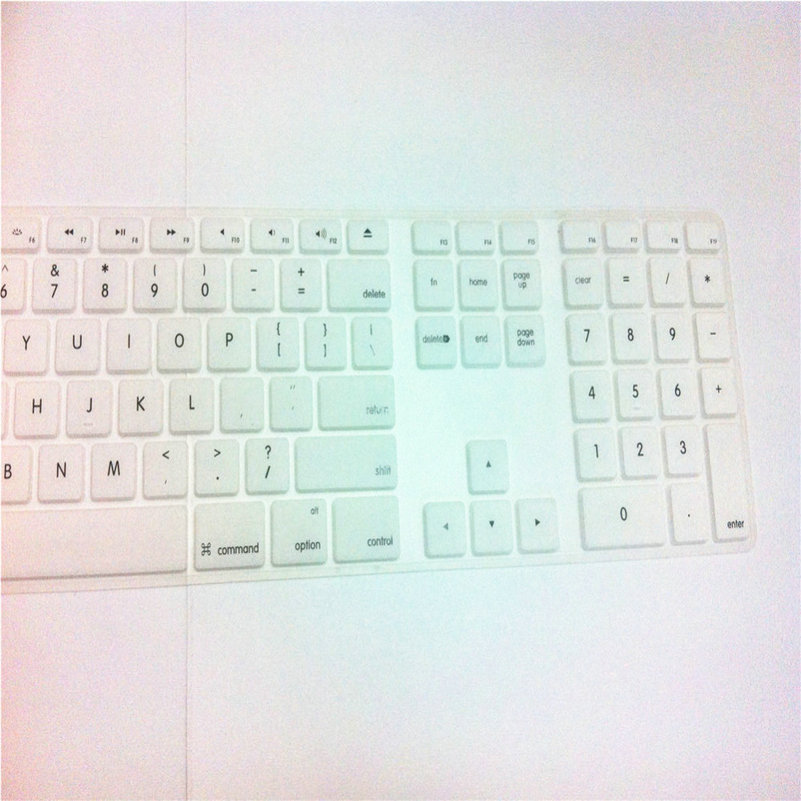 Computer Desktop Color Silicone Keyboard Cover Skin Protector with a Numeric Keypad for Apple IMac G5/G6
