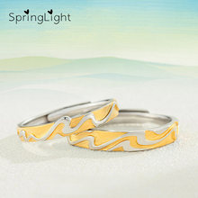 Весеннее желтое кольцо Настоящее серебро 925 проба ручной работы