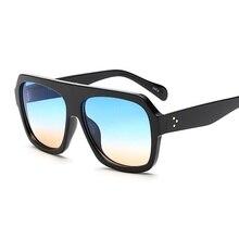 SOLO TU Fashion Oversized Gradient Lenses Women Men Sun Glasses Brand Designer Handsome Elegant Rivet Hand Made Sunglasses UV400