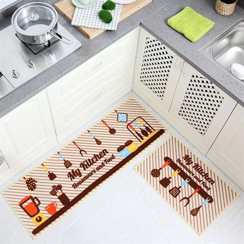 Honesty 2pcs/set Anti-slip Kitchen Bathroom Mat Entrance Doormat Wholesale Dining Room Table Carpet Garden Area Rugs 40x60cm 40x120cm To Prevent And Cure Diseases Mat