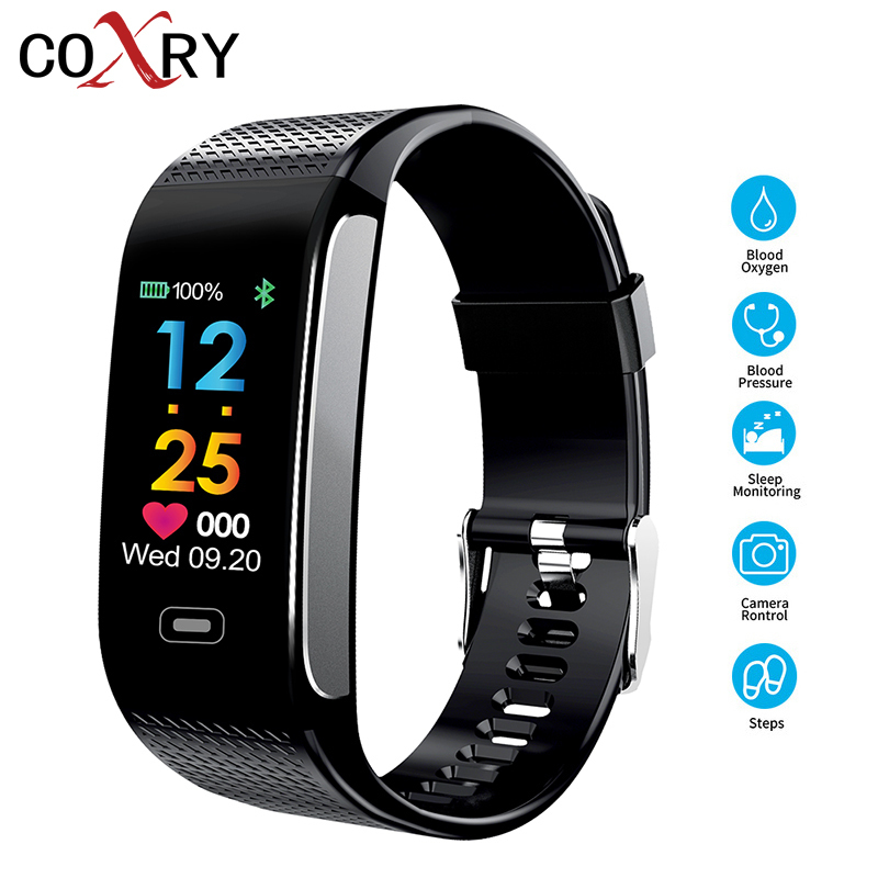 COXRY Smart Watch Men Pedometer Calories Heart Rate Monitor Waterproof Sport Watch Women Digital Fitness Bracelet Smartband IOS ...