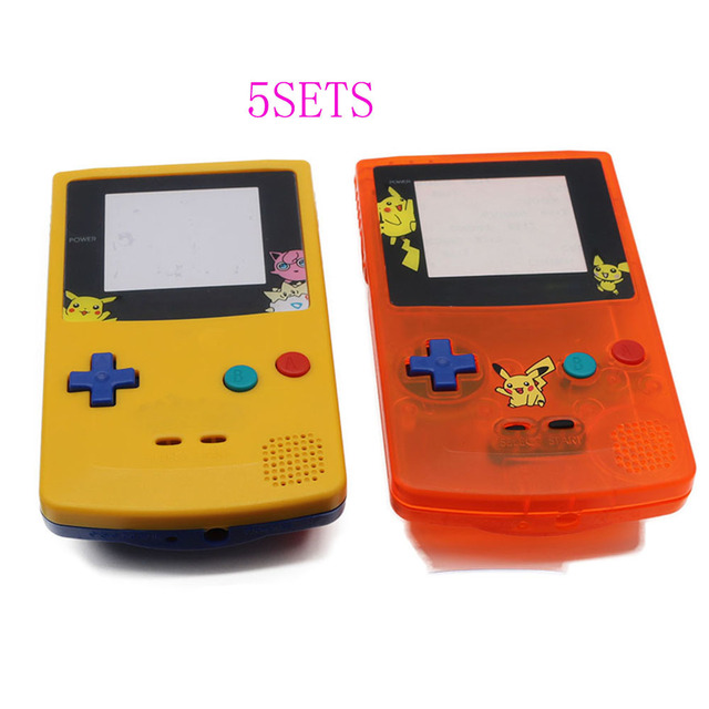 5sets for gbc limitd version clear orange yellow blue housing