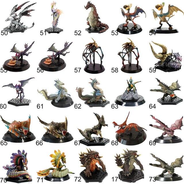50-73(Jimusuhutu) Japan PS PSP Video Games Capcom Monster Hunter PVC Model Toy Balfalc Tamami Ganototos Daimyo Zazami Figures  1