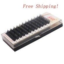 Free Shipping All Sizes 3D Individual false Eyelash Extension Natural Hand Made Silk Eye lash fake lashes