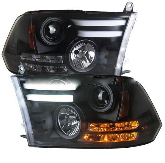 2 шт. Стайлинг для головной лампы Ram 1500 фара 2013 2014 2015 2016 ram задний фонарь Bi Xenon фара LED DRL Автомобильные фары