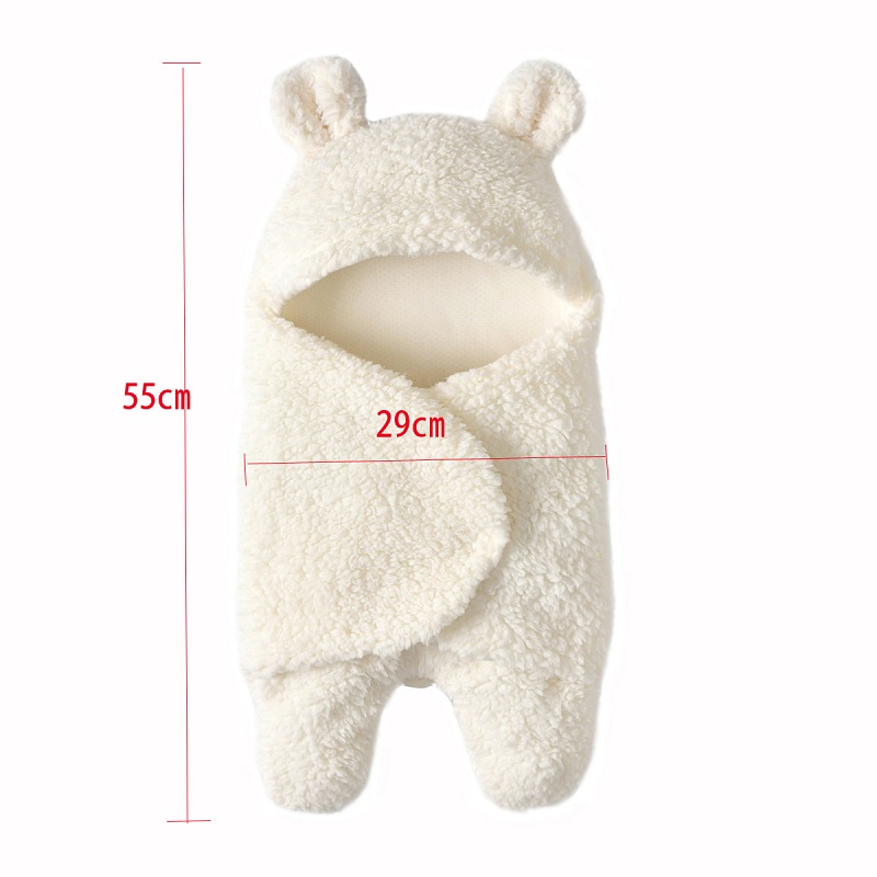 Infant Super Soft Lamb Velvet Baby Boy Girl Thick Rompers Newborn Cute Rabbit Keep Warm Winter Cotton Sleeping Bag Baby Clothes