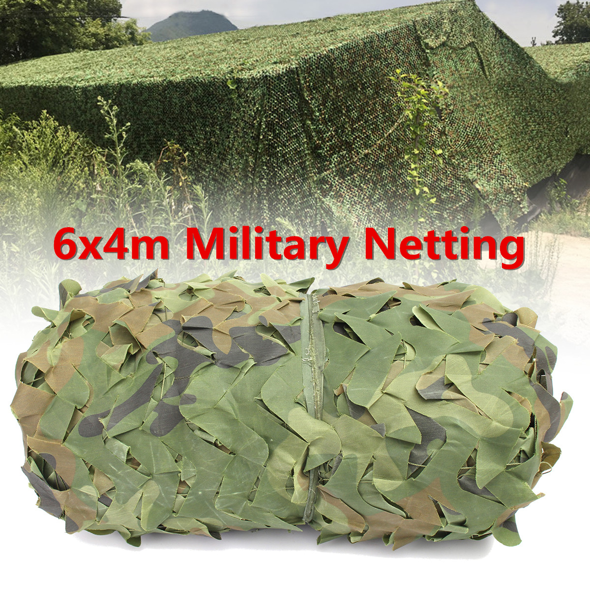 6X4m Outdoor Desert Woodland Camouflage Netting Military Army Camo Hunting Hide Camp Cover Net Sun Shelter 5 colors military camouflage net 5x3m outdoor camo net for hunting covering camping woodlands leaves hide sun shelter car cover