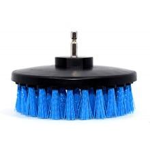 5 дюймов Blue дрель Мощность скраб Чистящая Щетка для кожи Пластик деревянная мебель для украшения интерьера автомобиля для чистки Мощность на каждый день