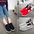 High quality Women Canvas Flats Shoes Slip On Comfort Shoes Flat Shoes Loafers five sizes Oct20