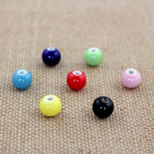 10pcs/lot ceramic colorful beads 10mm for DIY/handmade fashion bracelet necklace jewelry gift making wholesales free shipping