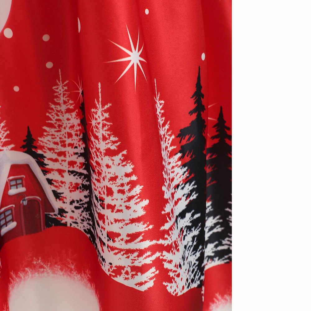 Kerst Zomer Jurk Vrouwen Vintage Avond A-lijn Knielange Mouwloos Party Eve ning Jurk Elegante Swing Jurk 2019