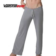 VANSTINBUM Sleep Bottoms Sexy Men's Ice Silk Soft S
