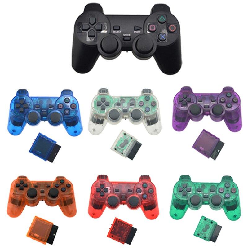 Für SONY PS2 Wireless Controller Bluetooth Gamepad für Play Station 2 Joystick Konsole für Dualshock 2 Transparente Farbe