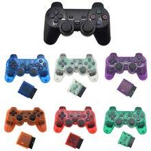 لسوني PS2 وحدة تحكم لاسلكية بلوتوث غمبد لمحطة اللعب 2 عصا التحكم وحدة التحكم ل Dualshock 2 لون شفاف