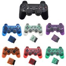 SONY PS2 kablosuz denetleyici Bluetooth Gamepad için Play Station 2 Joystick konsolu Dualshock 2 şeffaf renk
