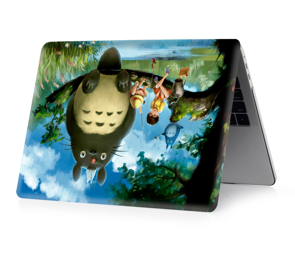 Image 4 - Totoro color printing shell notebook case for Macbook Air 11 13 Pro Retina 12 13 15 inch   for New Air 13  or New Pro 13 15-in Laptop Bags & Cases from Computer & Office