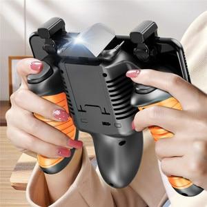 Image 5 - PUBG Mobile Controller Gamepad Lüfter Kühler für iOS Android Joystick Laufende Feuer Taste PUBG Peripheren 16 Runden/Zweite