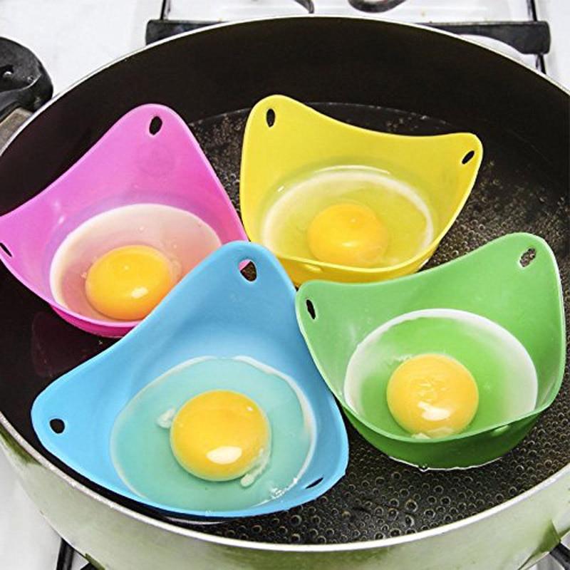 4 PCS Silicone Egg Poacher Poached Egg Pods Egg Boiler Egg Cups Microwave Egg Poachers Mold