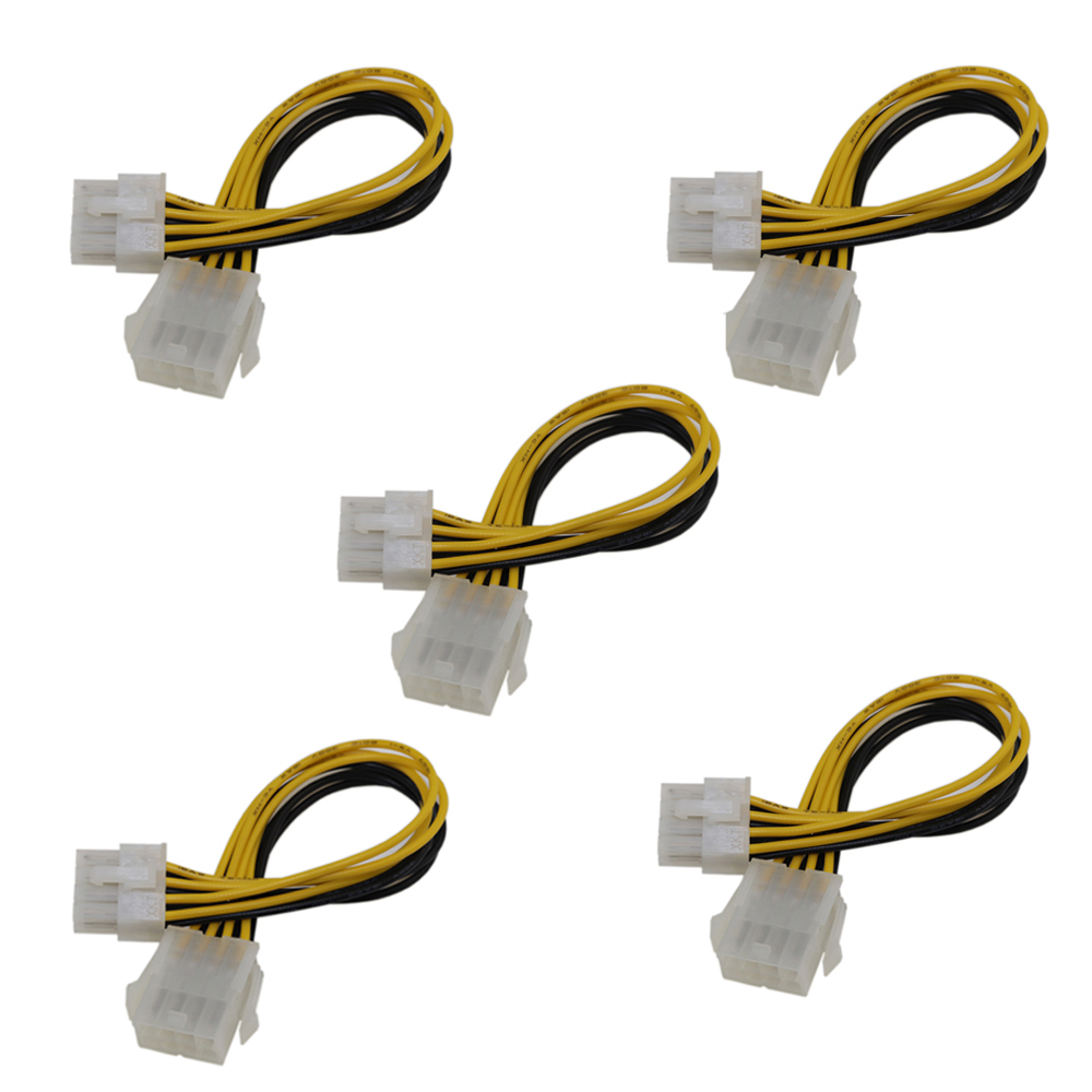 10pcs 8 Pin 12V ATX EPS Power Extension Cable Male to Female Motherboard CPU 1FT