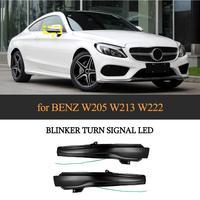 Auto Seite Spiegel Abdeckung Led anzeige Dynamische Blinker Licht für Mercedes Benz C KLASSE W205 S KLASSE W222 S KLASSE W217 Ein Paar|Lampenhauben|Kraftfahrzeuge und Motorräder -