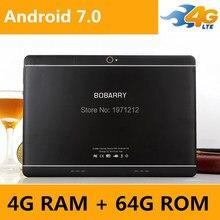 Envío Libre 10 pulgadas tableta 4G LTE FDD Octa Core 4G + 64 GB ROM 1920×1200 IPS Tabletas Embroma el Regalo 10 10.1 Android 7.0 Tablet p
