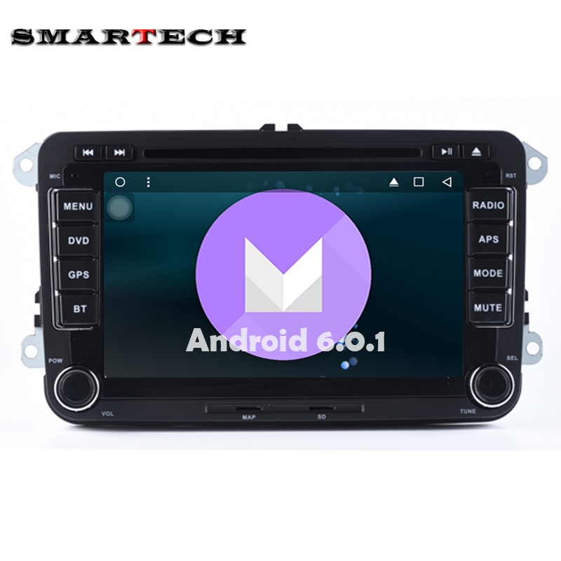 2 Din VW Car Stereo Radio DVD GPS Wifi Aux Android 6 0 For VW GOLF