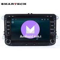 2 Din VW Car Stereo Radio DVD GPS Wifi Aux Android 6.0 per VW GOLF POLO JETTA TOURAN EOS PASSAT CC TIGUAN SHARAN SCIROCCO Caddy