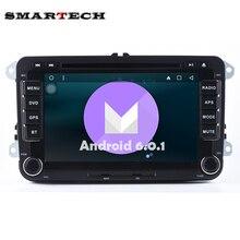 2 Din Estéreo Del Coche de VW Aux de Radio DVD GPS Wifi Android 6.0 para VW POLO GOLF JETTA PASSAT CC TIGUAN TOURAN EOS SHARAN SCIROCCO Caddy
