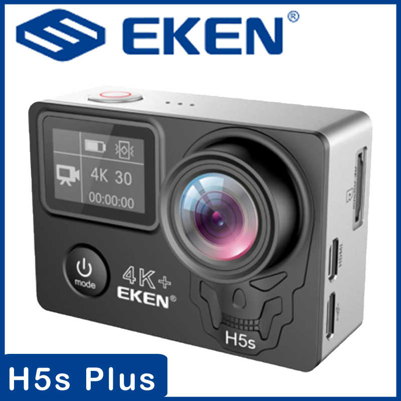 EKEN H5s Plus Ultra HD Action Camera 4K+ 12MP with EIS Underwater Waterproof Cam Remote Sports Camcorder 170 Degrees Angle Lens