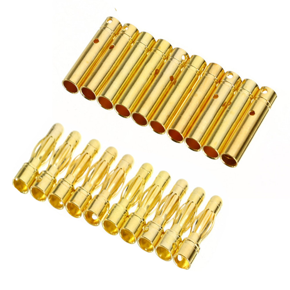 20Pair 2mm/3.5mm/4mm RC Battery Gold-plated Bullet Banana Plug High Quality Male Female Bullet Banana Connector image