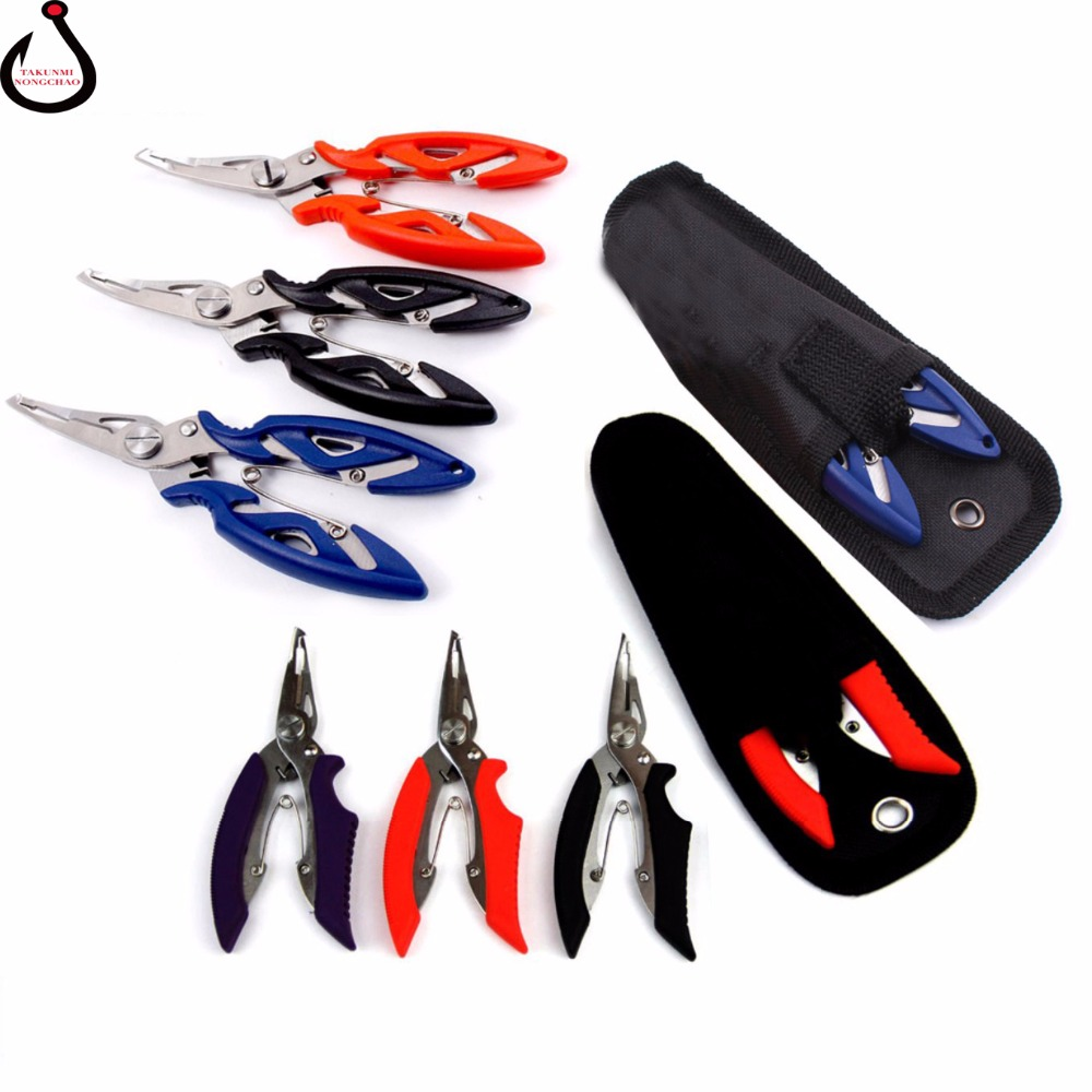 Stainless steel multi-functional road and nipper plier unhooking clamp control fish wire cutters WS-29