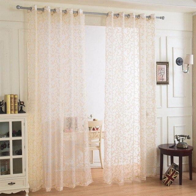 plafond rideaux voilages fen tre d coration voile rideau 1 panneau polyester cuisine tulle. Black Bedroom Furniture Sets. Home Design Ideas