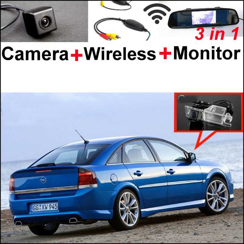 3in1 Special WiFi Camera + Wireless Receiver + Mirror Monitor System For Opel For Chevrolet Vectra For Holden Vauxhall 2002~2014 wireless pager system 433 92mhz wireless restaurant table buzzer with monitor and watch receiver 3 display 42 call button