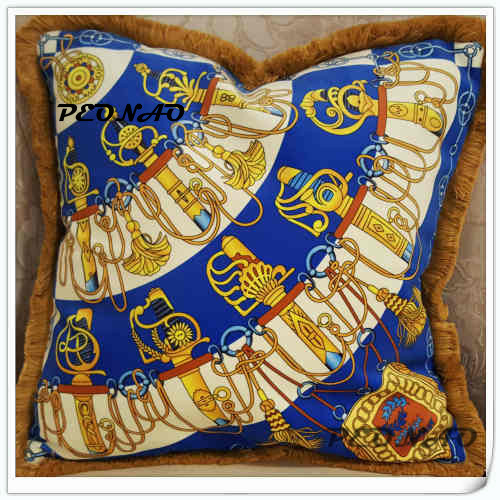 Blue Royal Sword Velvet Pillowcase With HD Printing for Sofa Home Living Room Decoration Cushion Cover