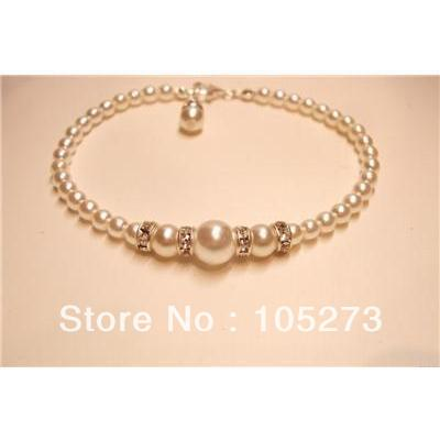 Wholesale Handmade White Of Cream Pearl Diamante Bridal Bracelet Bridesmaid Prom Jewellery 4 8mm Fashion Jewelry Free Shipping