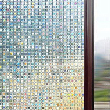 Multiple sizes 3D Laser Mosaic Decorative Window Film, Privacy Static Glass Film Non-Adhesive Heat Control Anti UV Cover