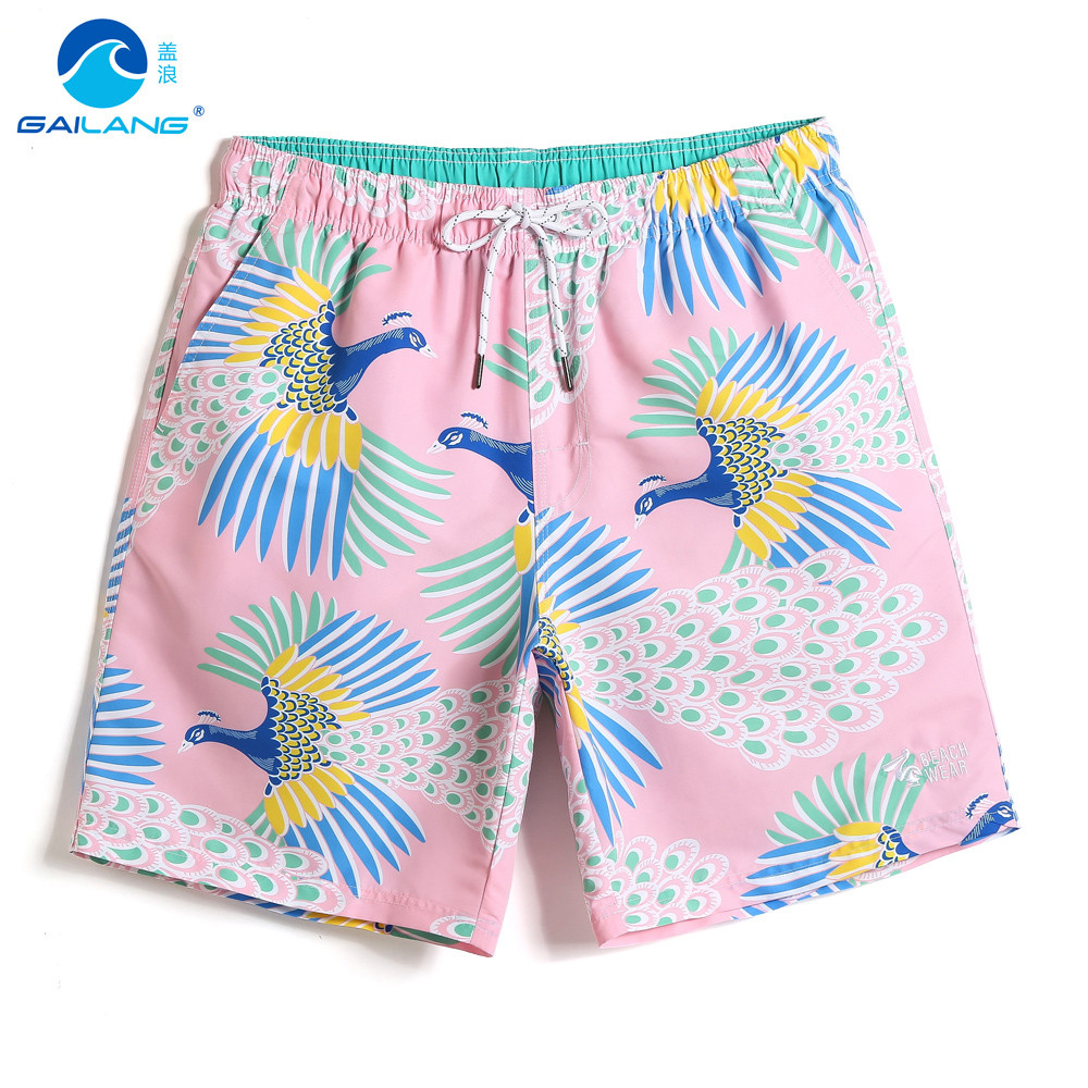 Men's Summer bating suit mesh   board     shorts   quick dry surfing swimsuit joggers printed sexy beach   shorts   breathable praia