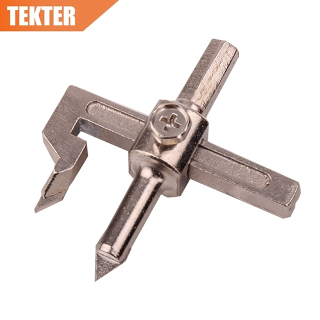 Tekter Tk0015 20 90mm Carbide Tungsten Drill Bit Adjule Circle Tile Cutter Hole For