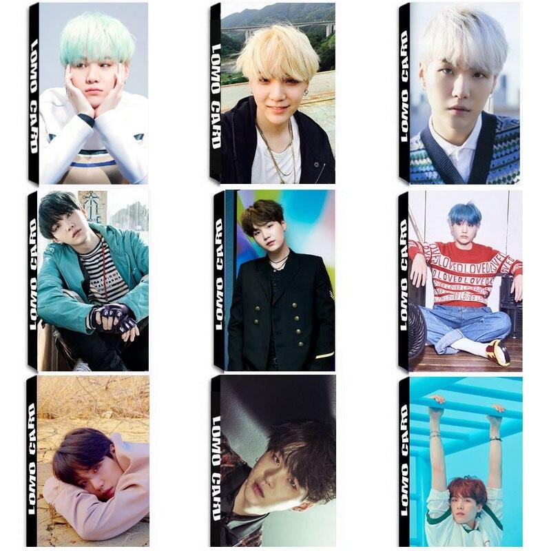 YANZIXG KPOP BTS Bangtan Boys Album SUGA Self Made Paper Lomo Card Photo Card Poster HD Photocard Fans Gift Collection jyj kimjunsu xia 3rd album vol 3 flower 1 random photocard release date 2015 3 18 kpop