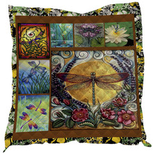 SOFTBATFY Dragonfly Print All Season Quilt For Kids Adult Bed Soft Warm Blanket Dropshipping
