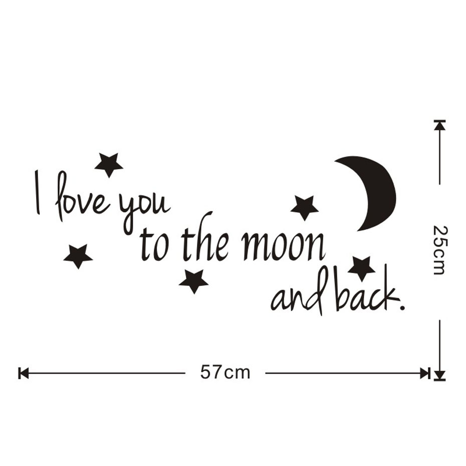 Quote I Love You To The Moon And Back I Love You To The Moon And Back Classics Love Quotes Diy Wall