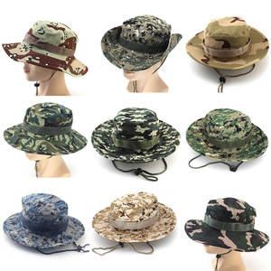 367b4b4619899 Camo Wide Brim Sun Cap Ripstop Camouflage Bucket Hats Fishing Hunting Hiking