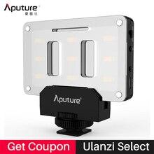 Aputure AL-M9 Pocket Mini LED Luz de Vídeo para Canon Nikon Sony, batería incorporada Recargable Luz de Relleno CRI/TLCI 95 para la boda