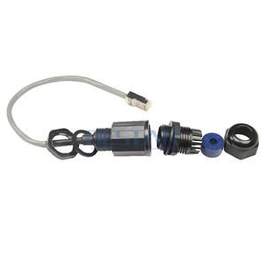 Image 3 - CAT5E RJ45 Wasserdichte Drüse Stecker Ethernet LAN Schwarz IP68 Schutz M20 CAT 5E RJ 45 männlich zu weiblich AP außen kabel