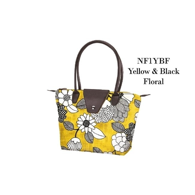 Joann Marrie Designs NF1YBF Small Fold Up Bag - Yellow and Black Floral Pack of 2 велошлем 2016 tld troy lee designs d3 speeda yellow cf