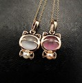 Statement Cute Lucky Cat Opal Short Necklace Hot Sale XY-N166 N167