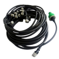 New 25m 4/7mm hose Misting Cooling System 30pcs Plastic Nozzle Sprinkler Sprinkling Water Plants Suit Micro Spray Equipment