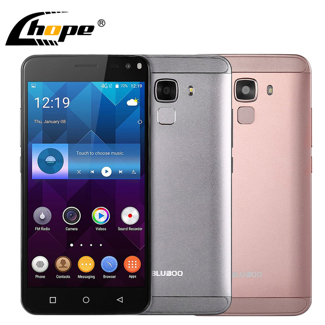 "Original BLUBOO Xfire 2 5.0"" HD 3G WCDMA Fingerprint Mobile Phone MTK6580 Quad Core 1GB RAM 8GB ROM 8MP Android 5.1 Smartphone"